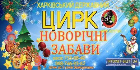 Новорічні забави. Харьковский цирк