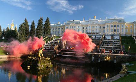 Открытие фонтанов в Петергофе 2018