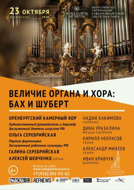 Величие органа и хора: Бах и Шуберт. Collegium Musicum