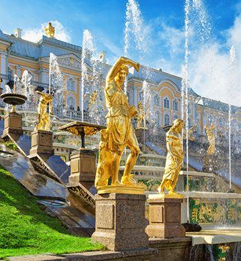 Открытие фонтанов в Петергофе 2020
