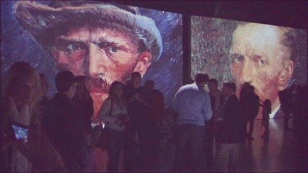 Интерактивная инсталляция: Ван Гог вживую.