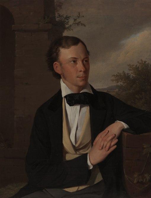 Выставка одной картины в НХМ РБ.  Адам Шемеш - Портрет Людвика Кондратовича (Владислава Сырокомли). 1854
