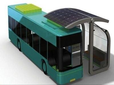 Solar Curve: автобусная остановка с подзарядкой