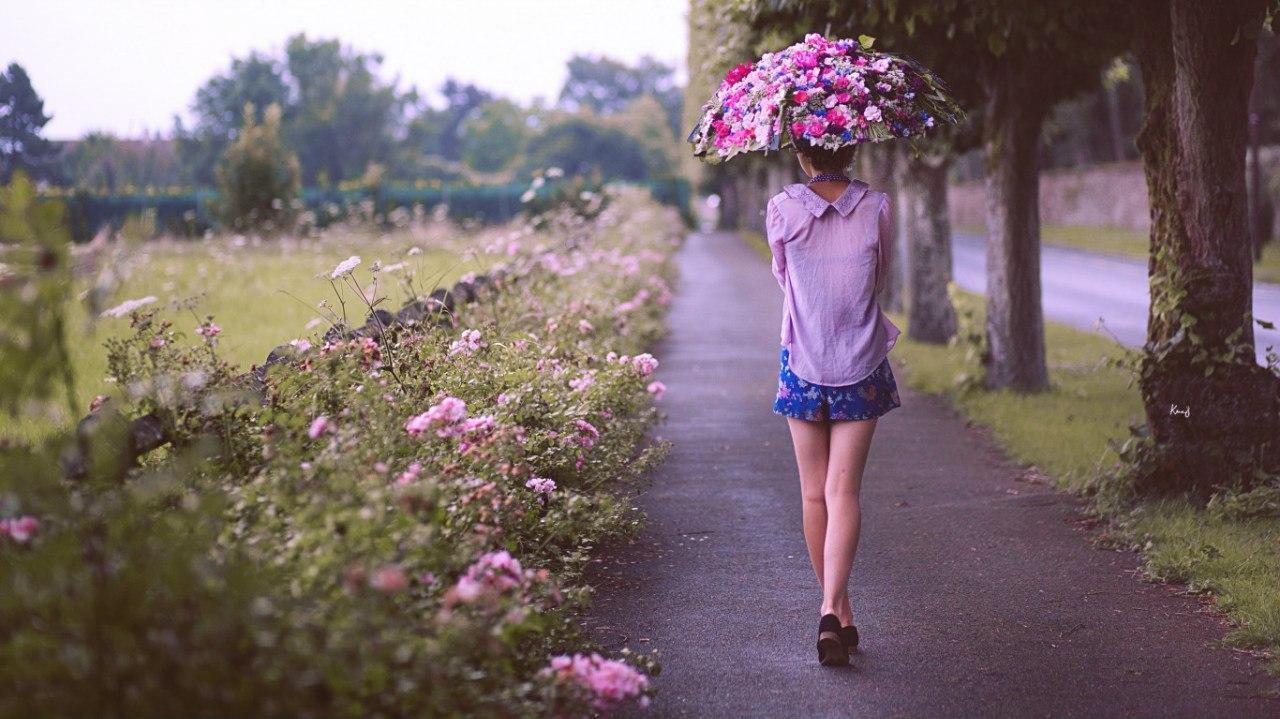 Цветы на улице летом