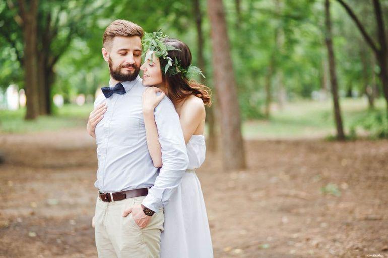 Свадьба, фотосессия. Пара. Молодожёны