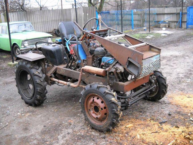 картинки самодельного трактора средний