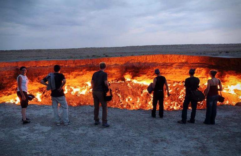 Дарваза - Дверь в преисподнюю. Врата ада. Туркменистан