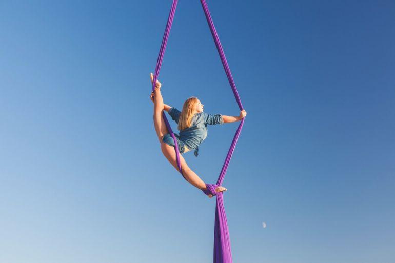 воздушная акробатика фото
