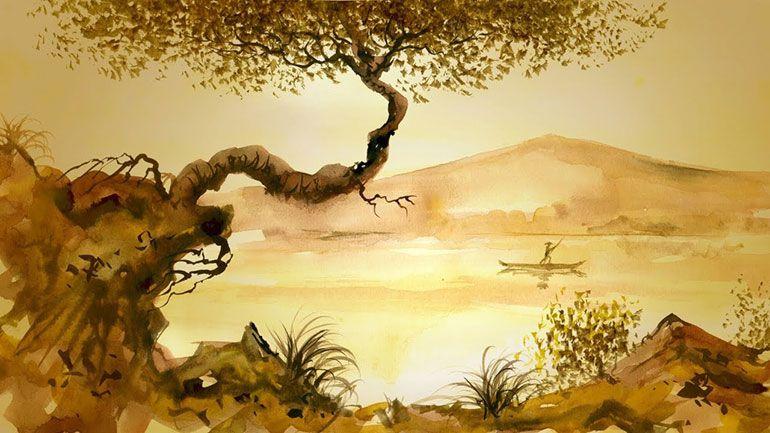 Гармония, покой. Река