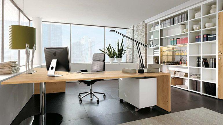 дизайн рабочего кабинета в офисе
