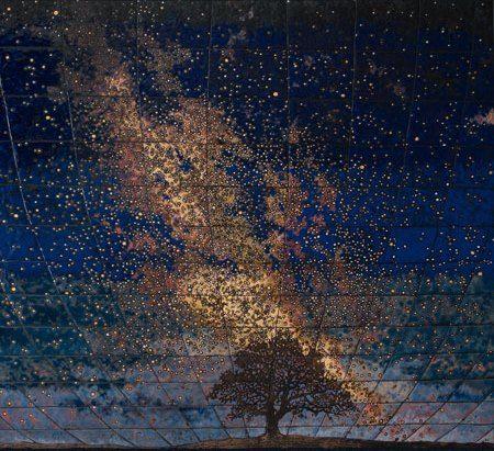 Виставка Земля і небо. Емалі. Галерея Зелена канапа. Афіша Львів 2018