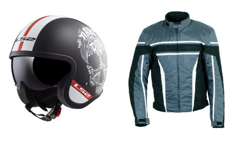 элементы мотоэкипировки шлем, куртка
