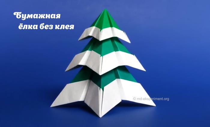 снежная ёлка из бумаги