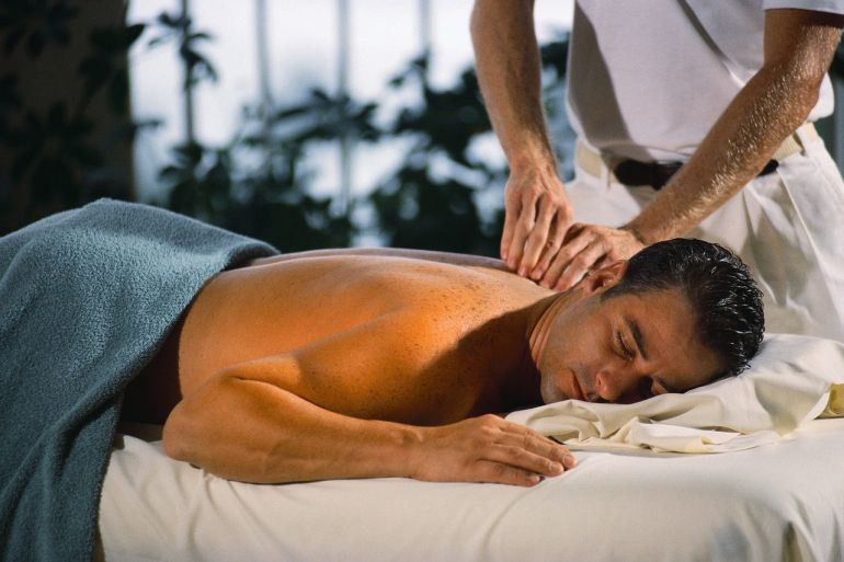 Общий массаж мужчине видео
