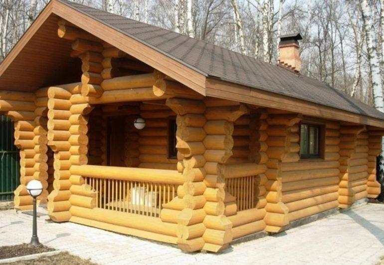 Дом из оцилиндрованного бревна - отличное экологичное жильё!