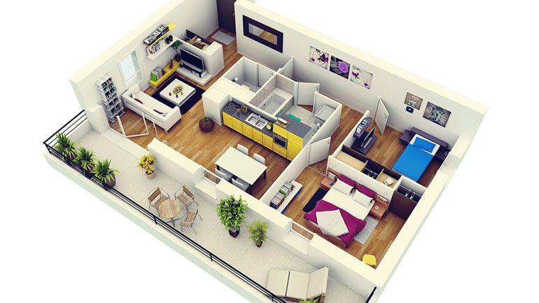 Планировка квартиры. Макет. Дизайн
