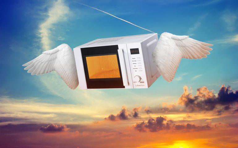 Летающая микроволновка иинформационные пузыри