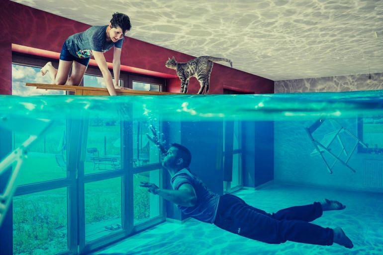 Серия занимательных фотоколлажей от Надежды Родкиной и Якуба Добяша