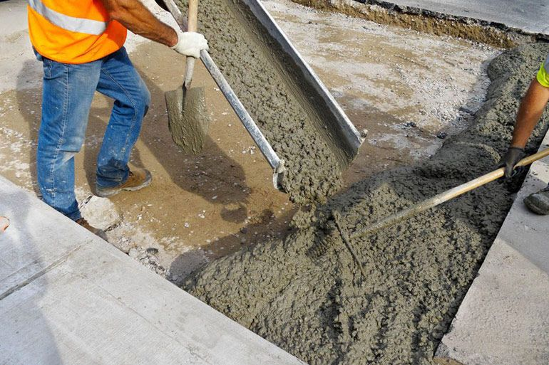 стройка из бетона