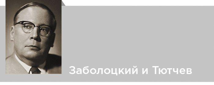 Критика. Заболоцкий и Тютчев. Владимир Гусев